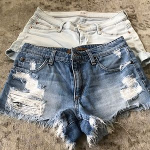 Bundle deal ! Hudson and j brand jean shorts.